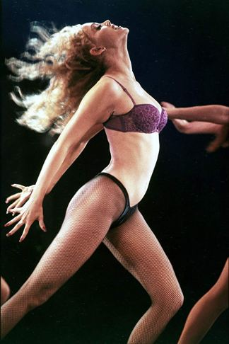 """Nomi Malone at the audition for the showgirl review Goddess in """"Showgirls."""""""