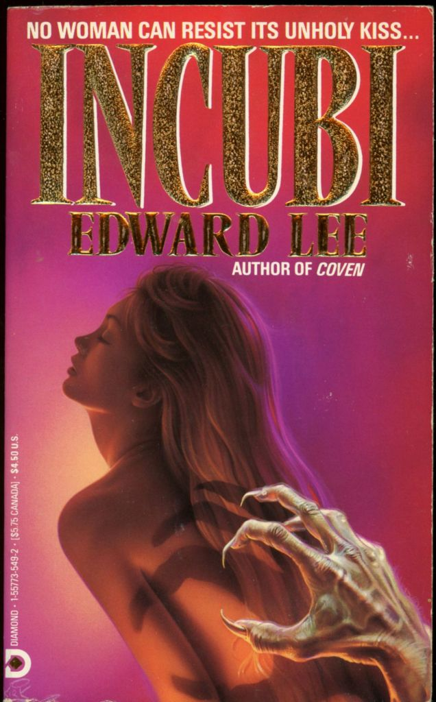 """A naked woman with blonde hair looks away while a monstrous hand reaches out to her on the illustrated cover of Edward Lee's """"Incubi."""""""