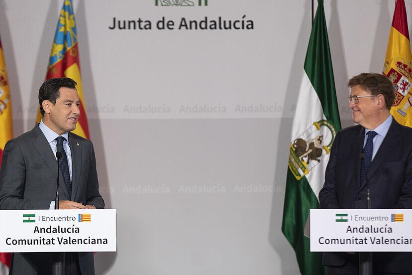 Andaluca y Valencia piden un fondo provisional de 1.700 millones