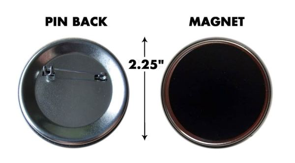 Button Magnet Back