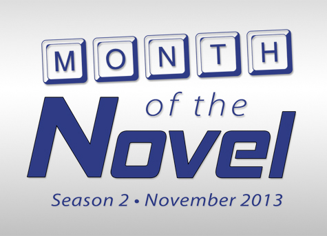 Month of the Novel Season 2 logo with date
