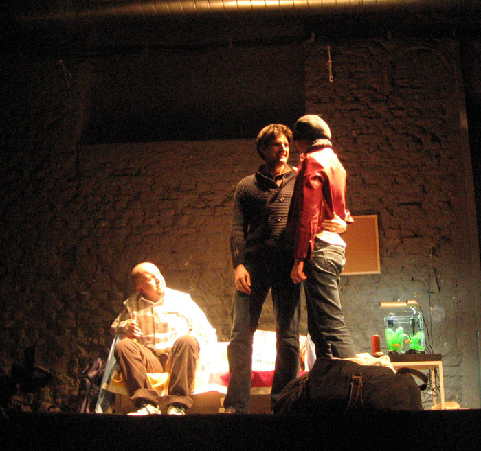 Jonathan Doyle, Christoph Stein und Anja Kimmelmann