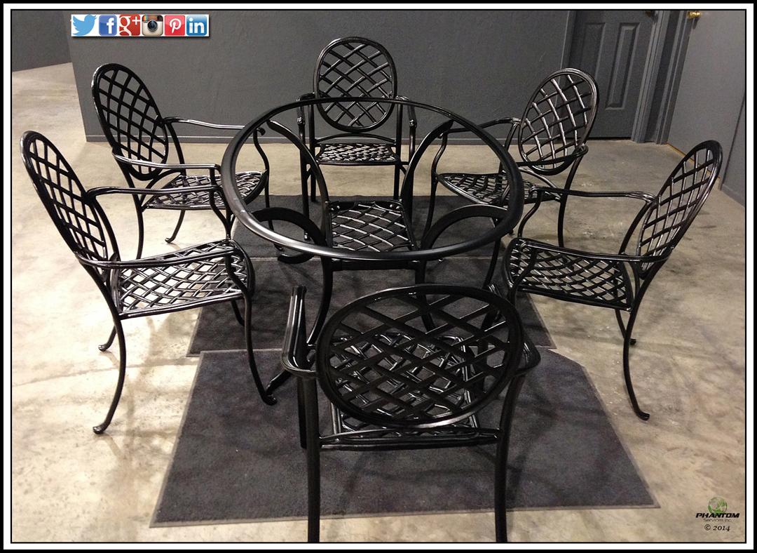 powder coat outdoor furniture phantom
