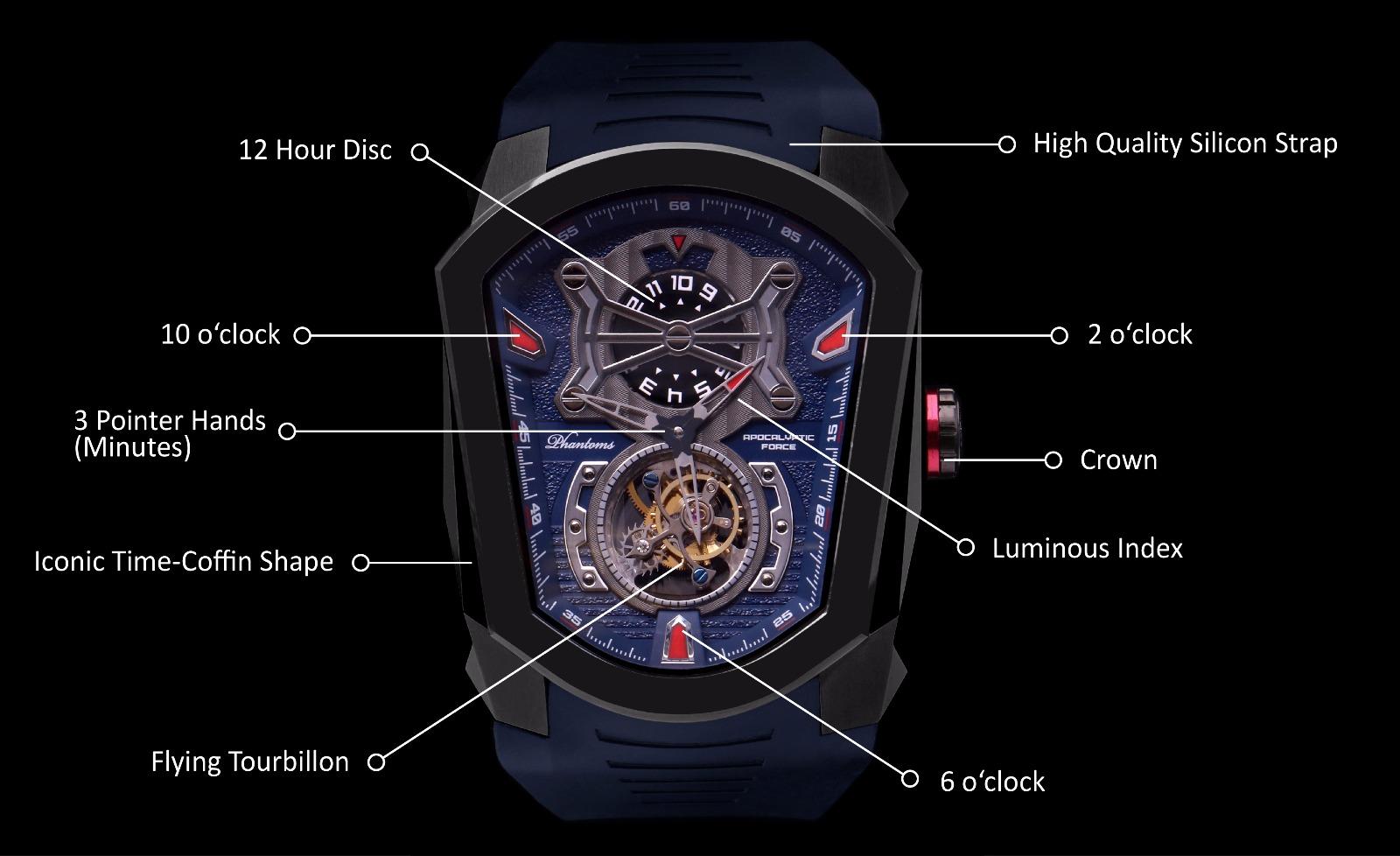 Phantoms Apocalyptic Force Flying Tourbillon Mechanical Watch