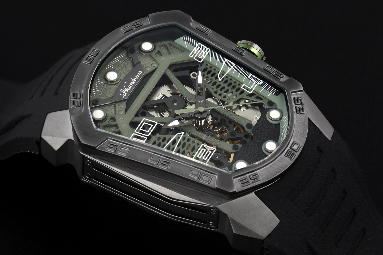 Phantoms Fight Blade Series Automatic Mechanical Watch Dark Green PHTW306-02