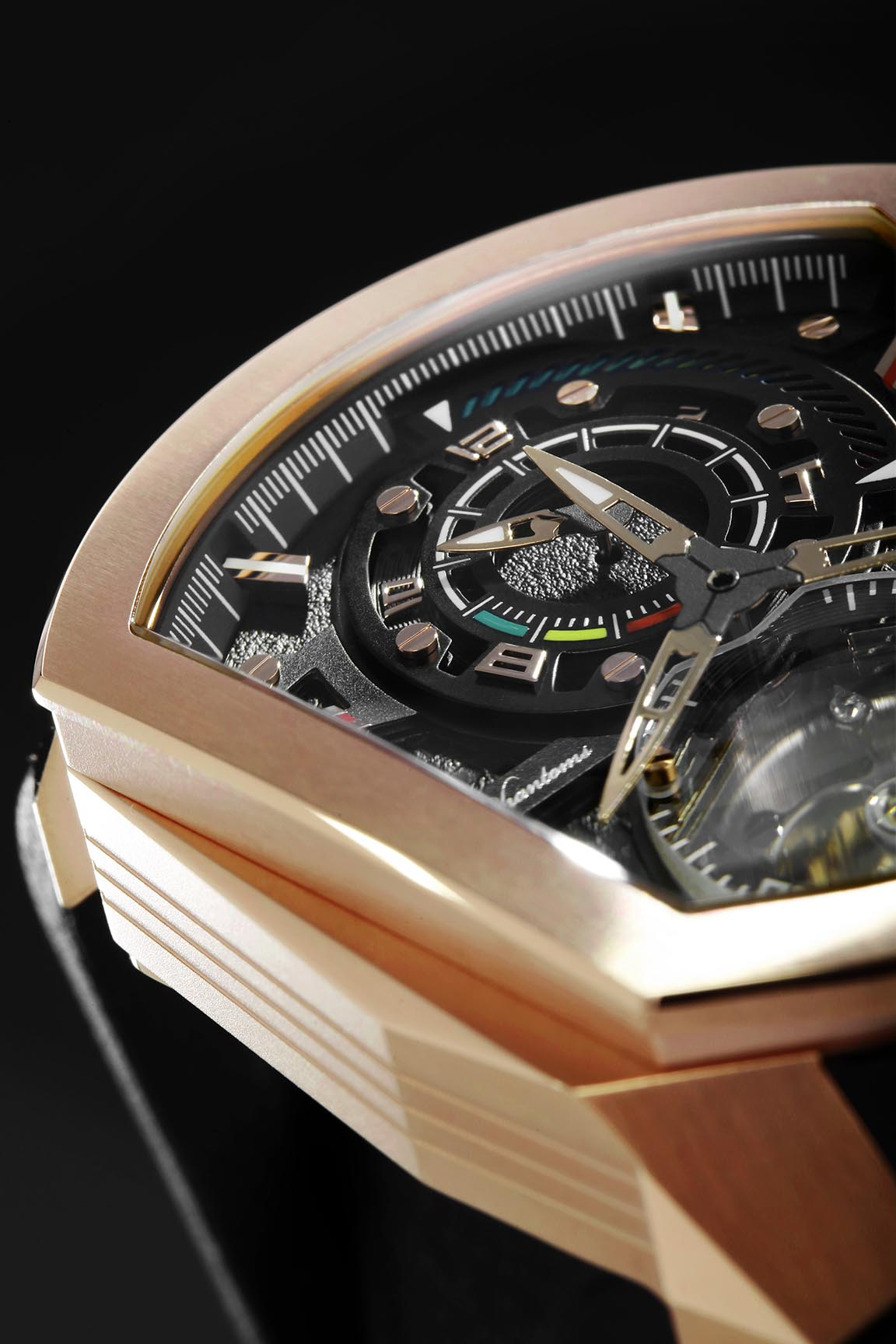godly speedforce mechanical watch white automatic watch phantoms tourbillon rosegold