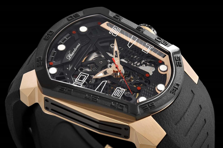 Triumph Blade mechanical watch white automatic watch phantoms tourbillon Rose Gold Watch Rubber Strap
