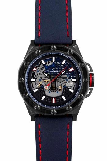Talisman Boneyard Phantoms Automatic Watch Blue Strap Skeleton Movement