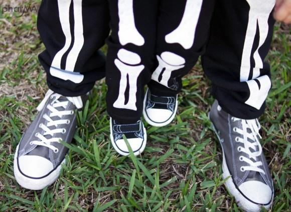 Converse, Skeleton Costume