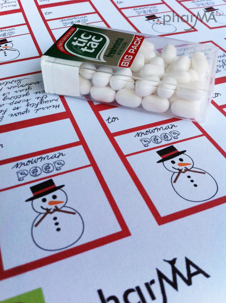 Snowman Poop Lables Free Printable