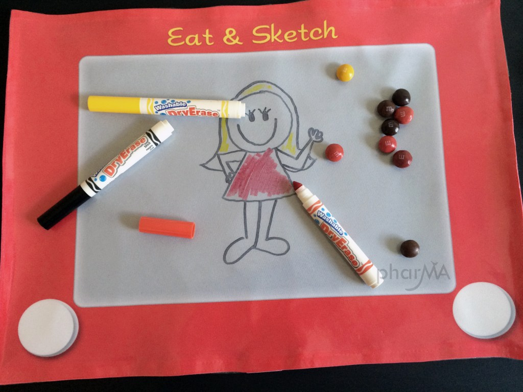 Eat & Sketch Placemat, Etch-a-sketch placemat, Hello My Name Is Placemat, Dry Erase Placemat, CafePress