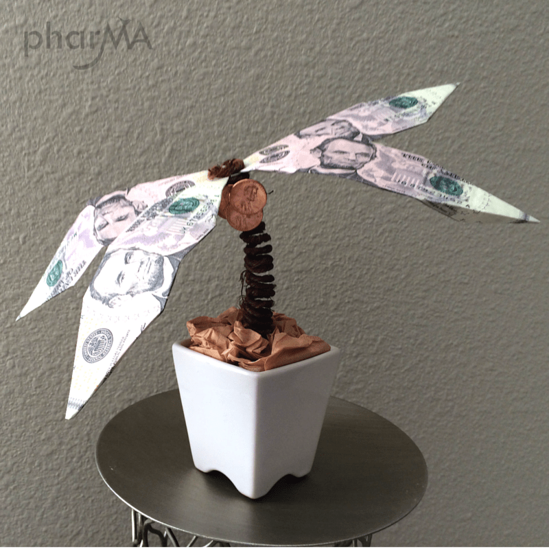 How to make an origami palm tree, teacher gift, Dad gift, Grad gifts, unique gift ideas, best gift ever
