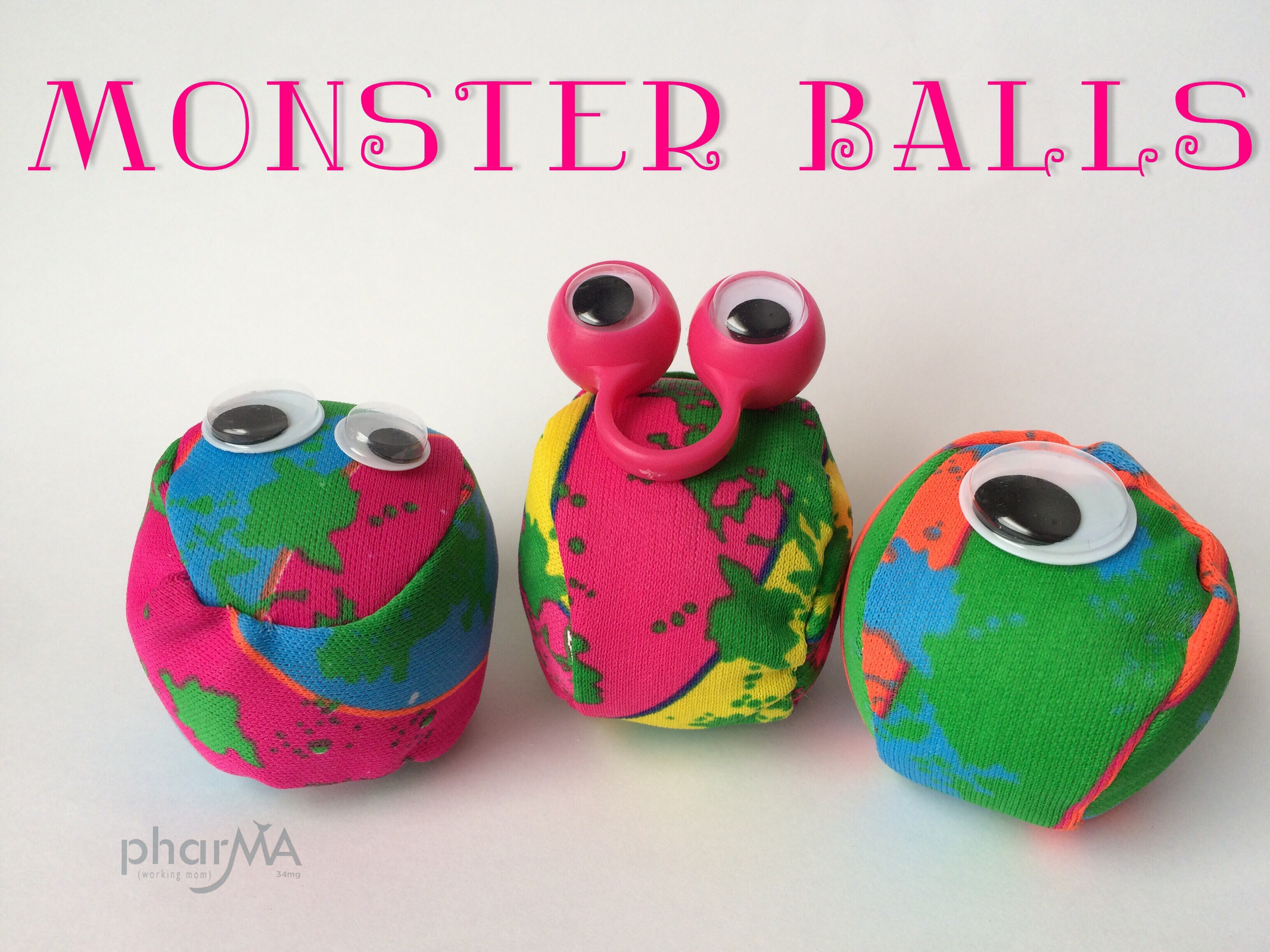 Monster Party, monster plush, stuffed monster, halloween party favor