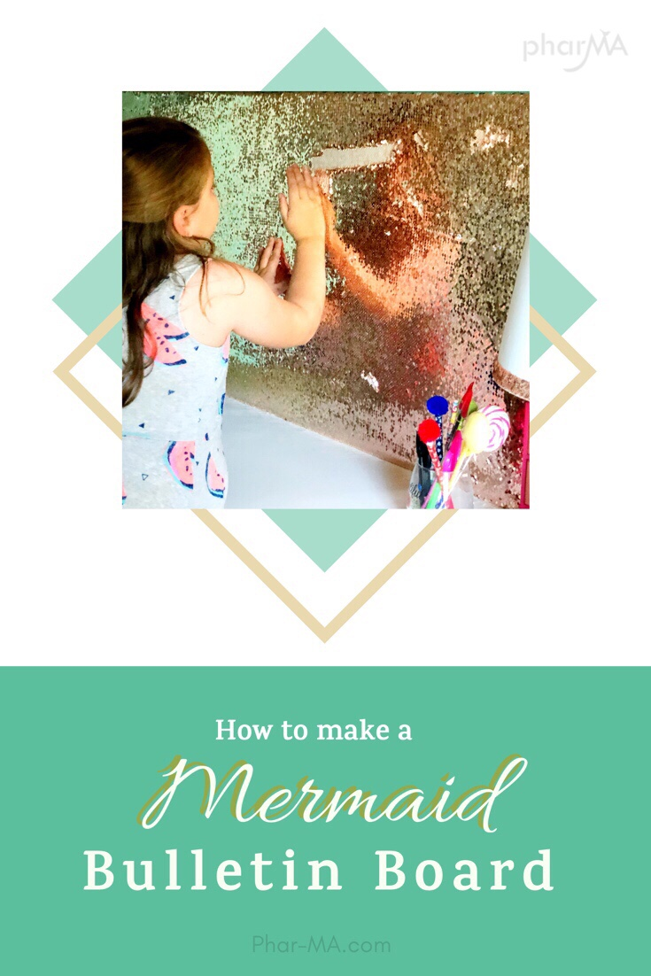 Learn how to make an interactive DIY Mermaid Sequin Bulletin Board for under $20!