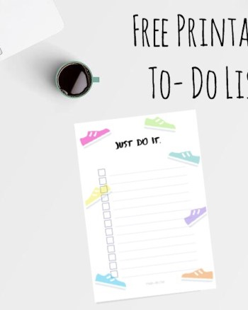 Just Do It Free Printable