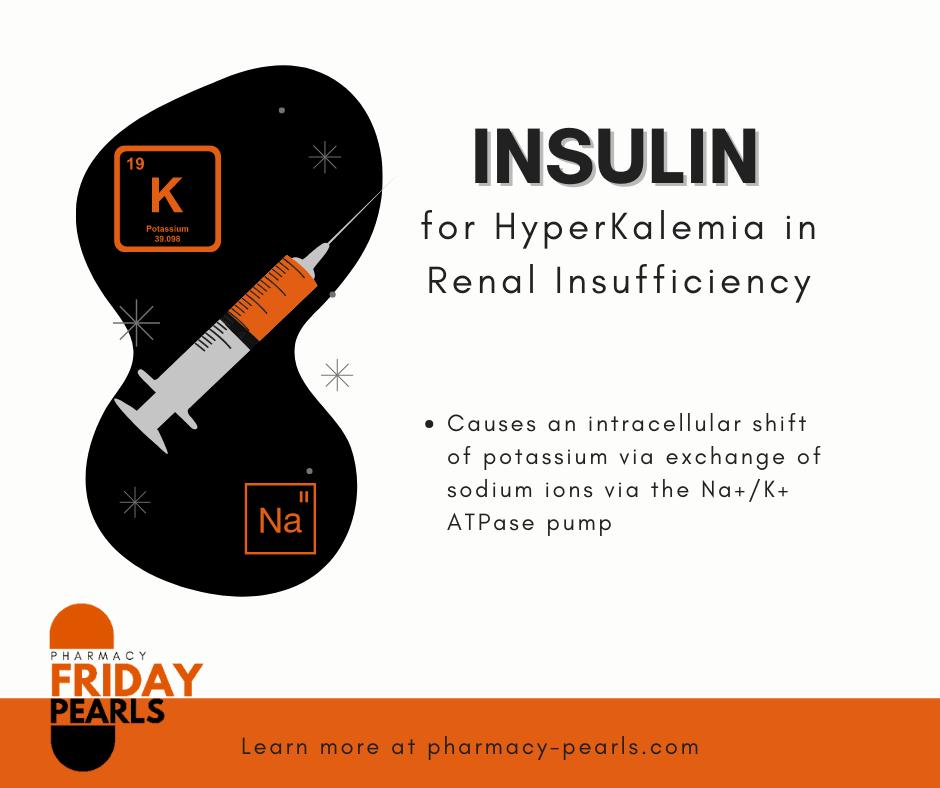 insulin Mechanism of action for hyperkalemia