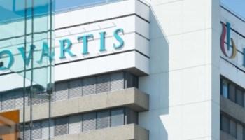 Novartis tower with logo