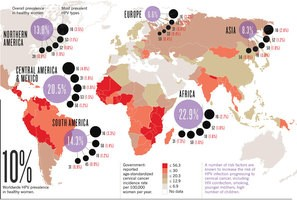 epidemiology of HPV in the world