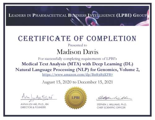 Madison_LPBI MTA DL NLP with CONTENT AREA Certificate