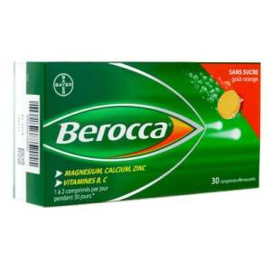 berocca - orange - effervescent - pharmacie charlet