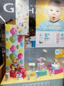 vitrine bébé février 2020 - pharmacie charlet