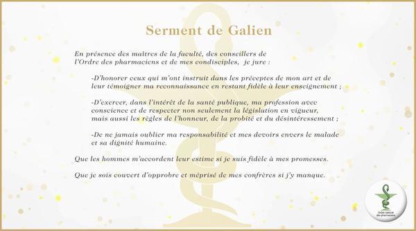 Serment de Galien - Pharmacie du 15e corps - Toulon
