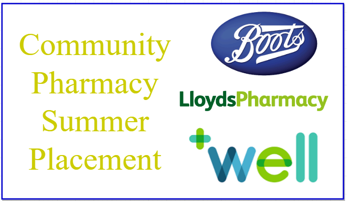 Community Pharmacy Summer Placement