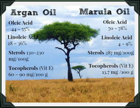 marula oil benefit vs argan oil