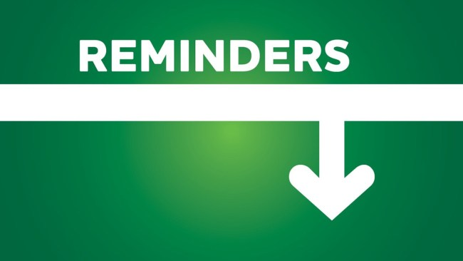 Banner for Reminders - 1200 x 675