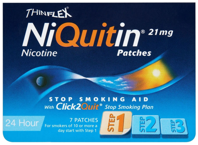 NIQUITIN (NICOTINE) 21MG (STEP-1) PATCHES PACK OF 7'S - Pharmacy Direct  Kenya