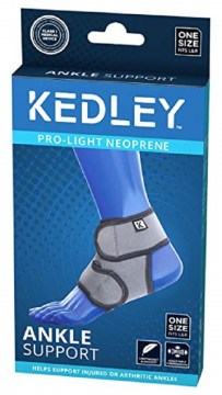 Kedley Pro-Light Neoprene Ankle Support One Size Fits L&R -Universal