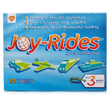 Joy Rides Travel Sickness Tablets 12`s