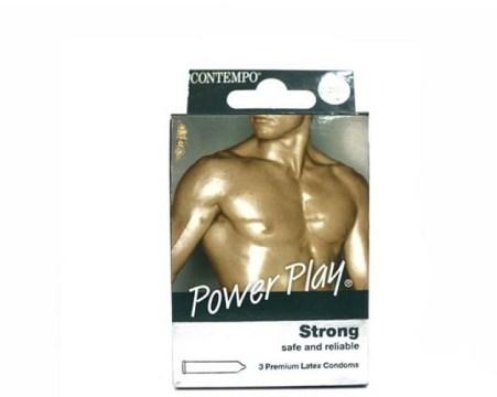 Contempo Power Play Condoms 3`s