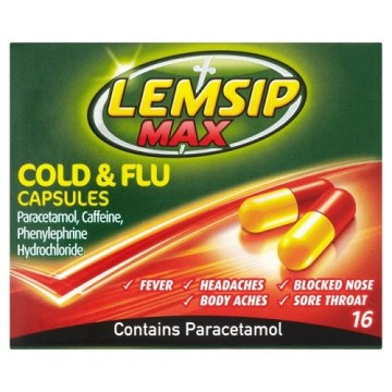 Lemsip Max All-In-One Caps 16`s