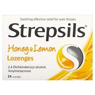 Strepsils Antiseptic Lozenges Honey And Lemon 100`s