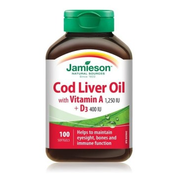 Jamieson Cold Liver Oil Softgels 100`s