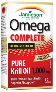 Jamieson Omega Complete Krill Oil 500mg Softgels 60`s
