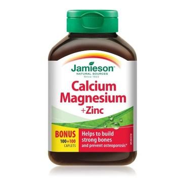 Jamieson Calcium Magnesium + Zinc Caplets 200`s
