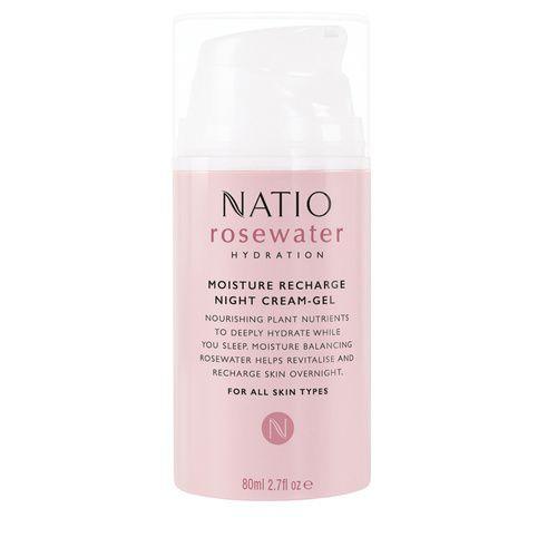 Natio Rosewater Hydration Moisture Recharge Night Cream-Gel 80mL