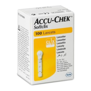Accuchek Softclix (Packet of 100 Lancets)