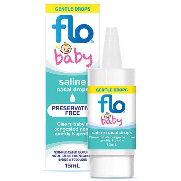 Flo Saline Nasal Drops For Babies 15ml 3