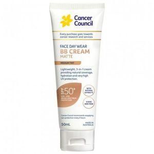 Cancer Council Face Day Wear BB Cream Matte SPF50+ Medium Tint 50mL