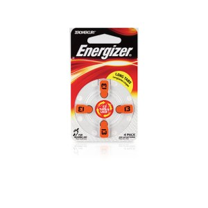 Energizer EZ Turn & Lock Size 13 Hearing Aid Batteries 4 Pack