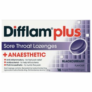 Difflam AAA Lozenges Blackcurrant 16