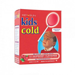 Key Sun Kids Cold Raspberry Flavoured 10 Lozenges
