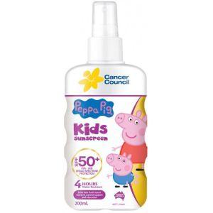Cancer Council Kids Peppa Sunscreen Pump SPF50+ 200ml