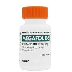 Megafol 0.5mg Folic Acid 100 Tablets