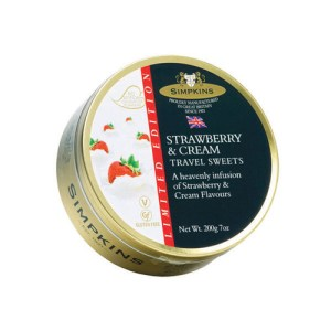 Simpkins Strawberry & Cream Travel Sweets 200g