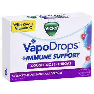 Vicks VapoDrops Immune Support Blackcurrant – 16 Lozenges