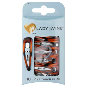 Lady Jayne Shell One Touch Clips – Pk 10